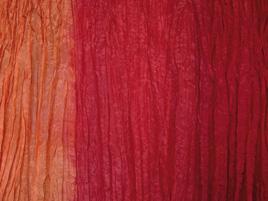 Seidentuch orange-rot