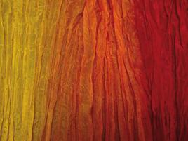 Seidentuch gelb-orange-rot