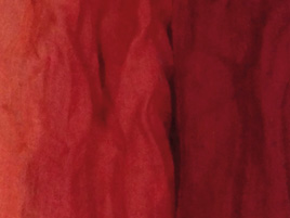 Wolle- Seidentuch rotverlauf