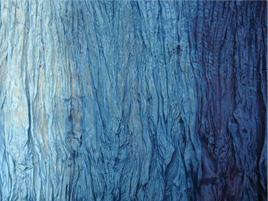 Seidentuch blauverlauf