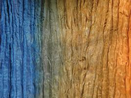 Seidentuch blau-braunverlauf